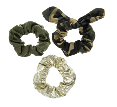 Camouflage Scrunchies Set of 3