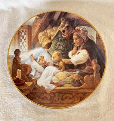 Knowles Scott Gustafson Porcelain Plate - Goldilocks and The Three Bears