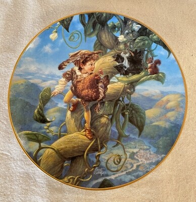 Knowles Scott Gustafson Porcelain Plate - Jack and the Beanstalk