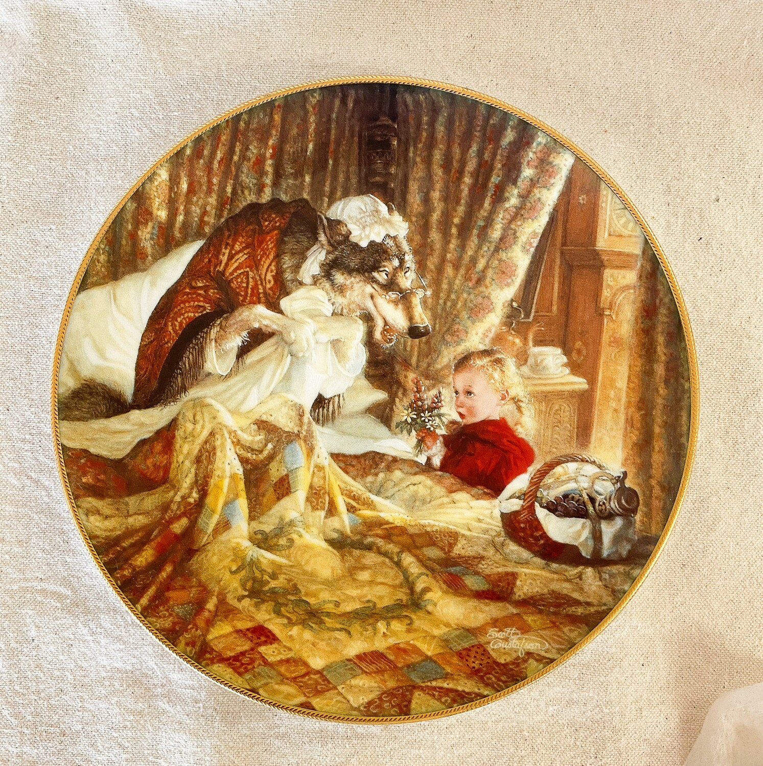 Knowles Scott Gustafson Porcelain Plate - Little Red Riding Hood