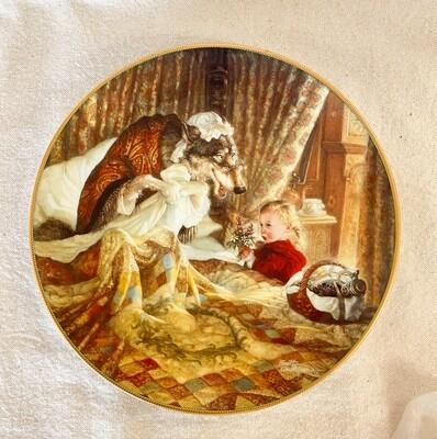 Knowles Scott Gustafson Porcelain Plate - Little Red Riding Hood