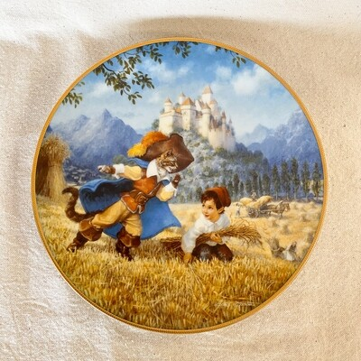 Knowles Scott Gustafson Porcelain Plate - Puss in Boots