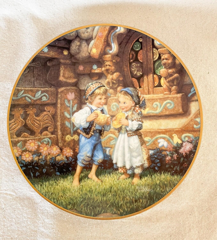 Knowles Scott Gustafson Porcelain Plate - Hansel and Gretel