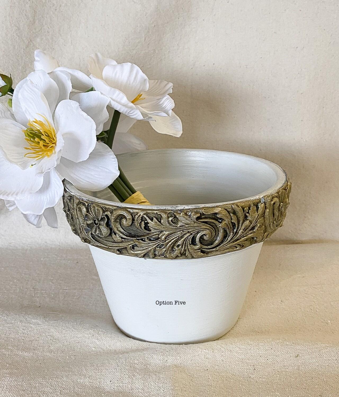 Decorative Clay Flower Pot