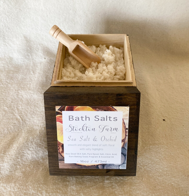 Raw Dead Sea Salt Bath Salts - Sea Salt & Orchid