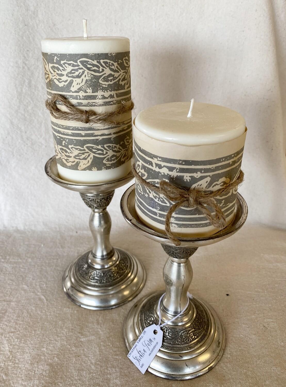 Sea Salt & Orchid Soy Pillar Candles