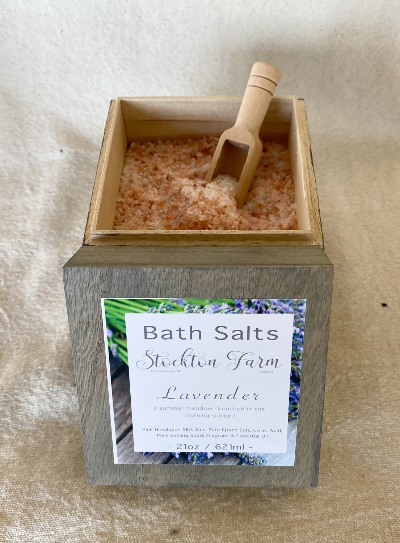 Pink Himalayan Sea Salt Bath Salts - Lavender