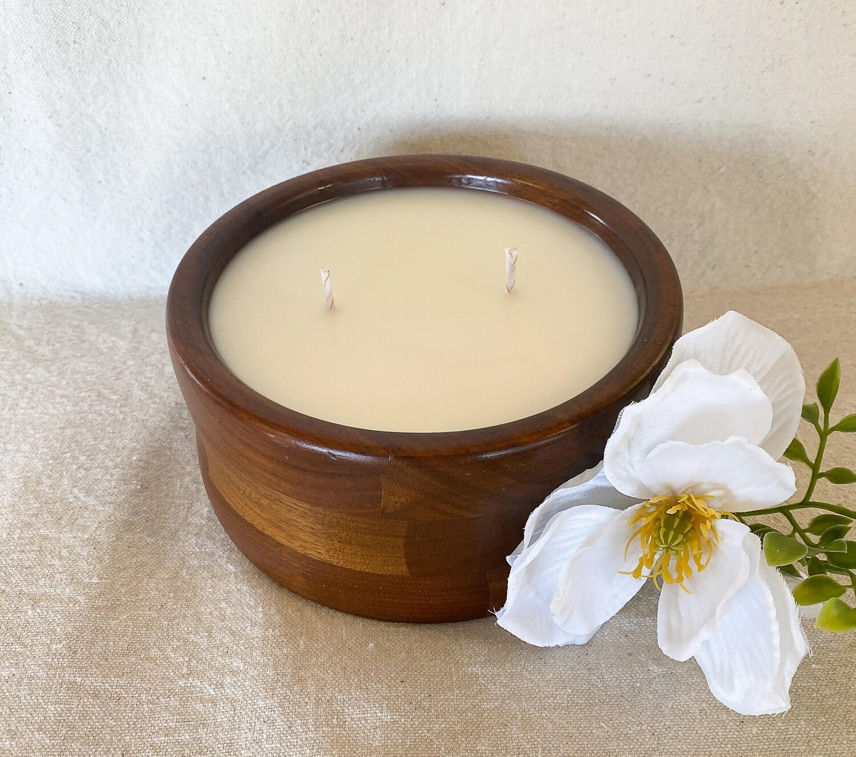 Cactus Flower & Jade Wood Bowl Candle 18oz