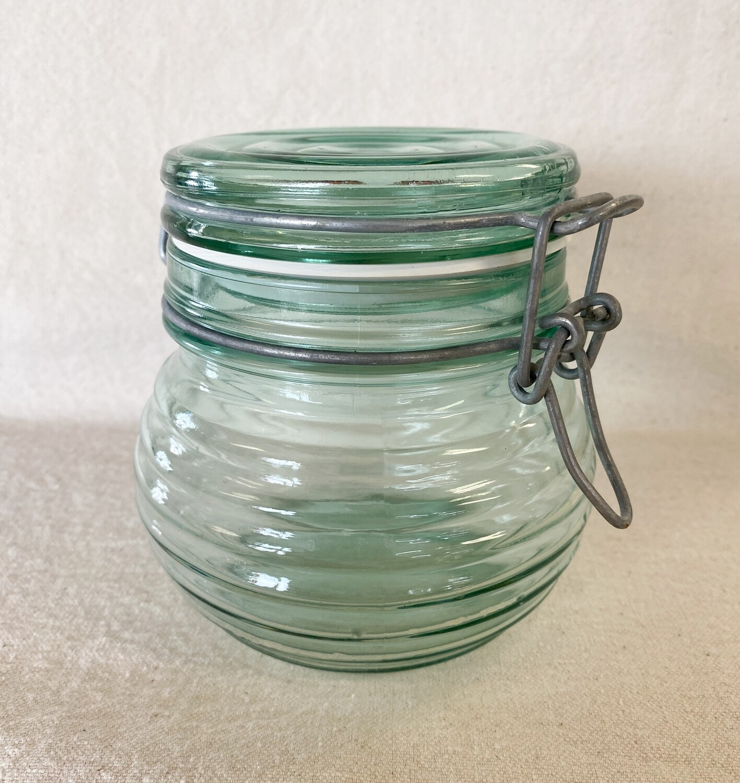Green Bee Hive Design Hermetic Jar