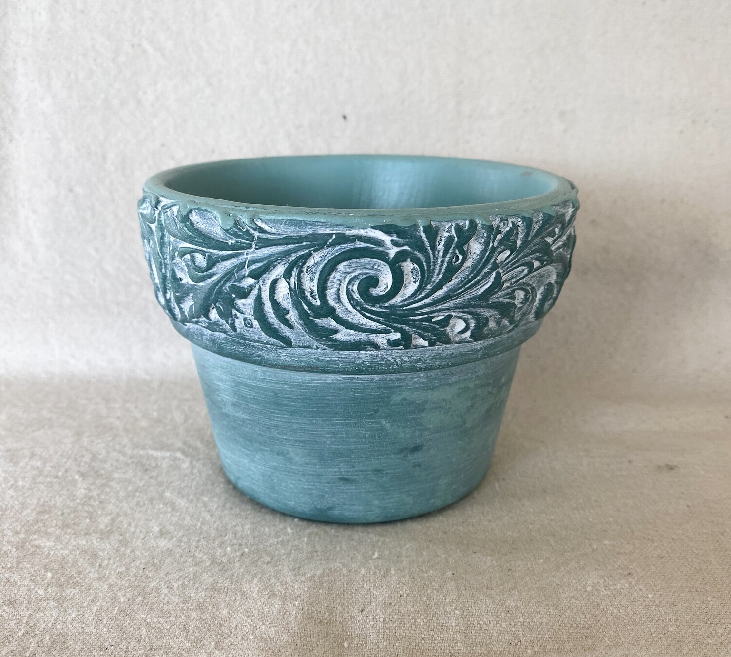 Green Clay Flower Pot