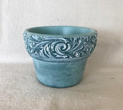 Green Clay Flower Pot