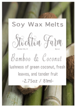 Bamboo & Coconut Soy Wax Melts