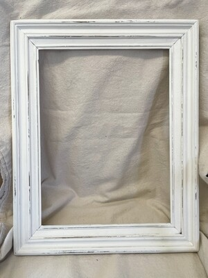 White Distressed Wood Frame