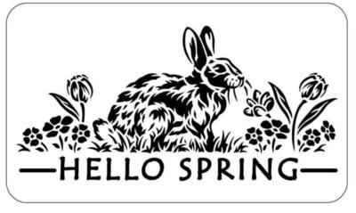 JRV Hello Spring Stencil
