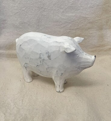 White Distressed Pig