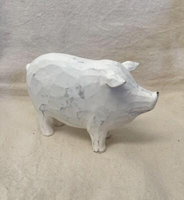 White Distressed Pig