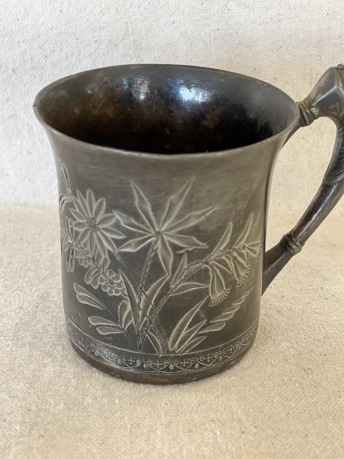 WM Rogers Silver Plate Etched Cup