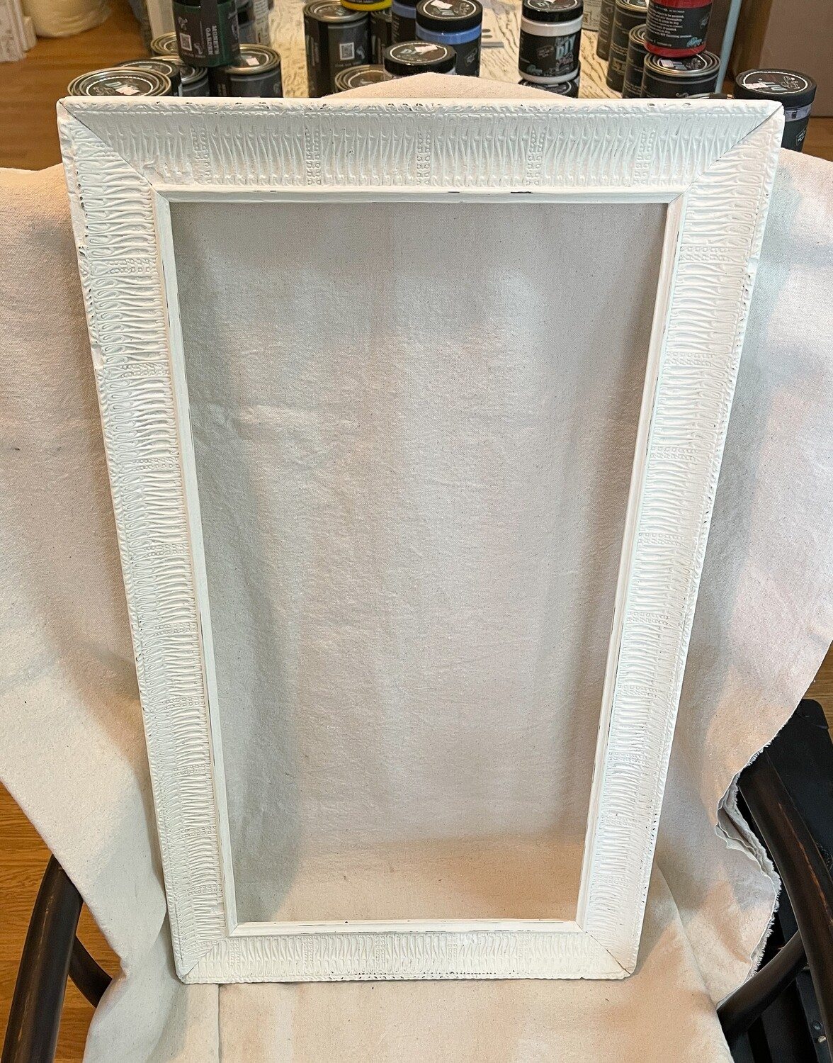 Rustic White Distressed Wood Frame