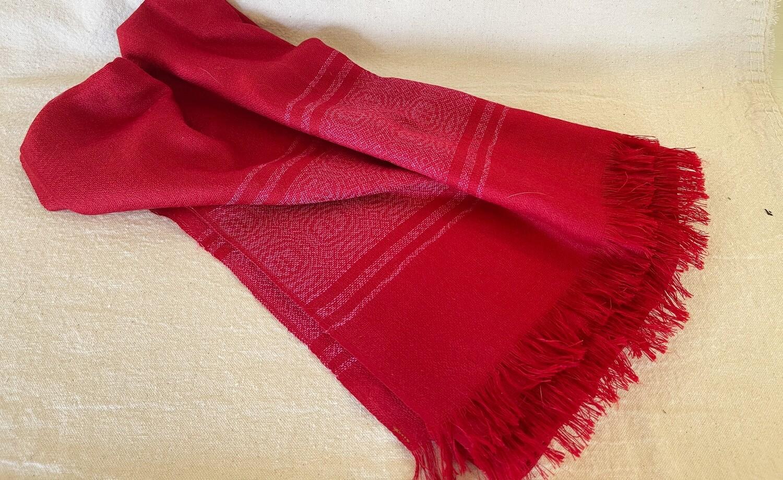 Vintage Red Scarf