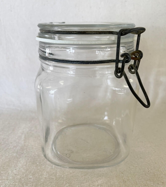 Square Hermetic Jar 1 Liter