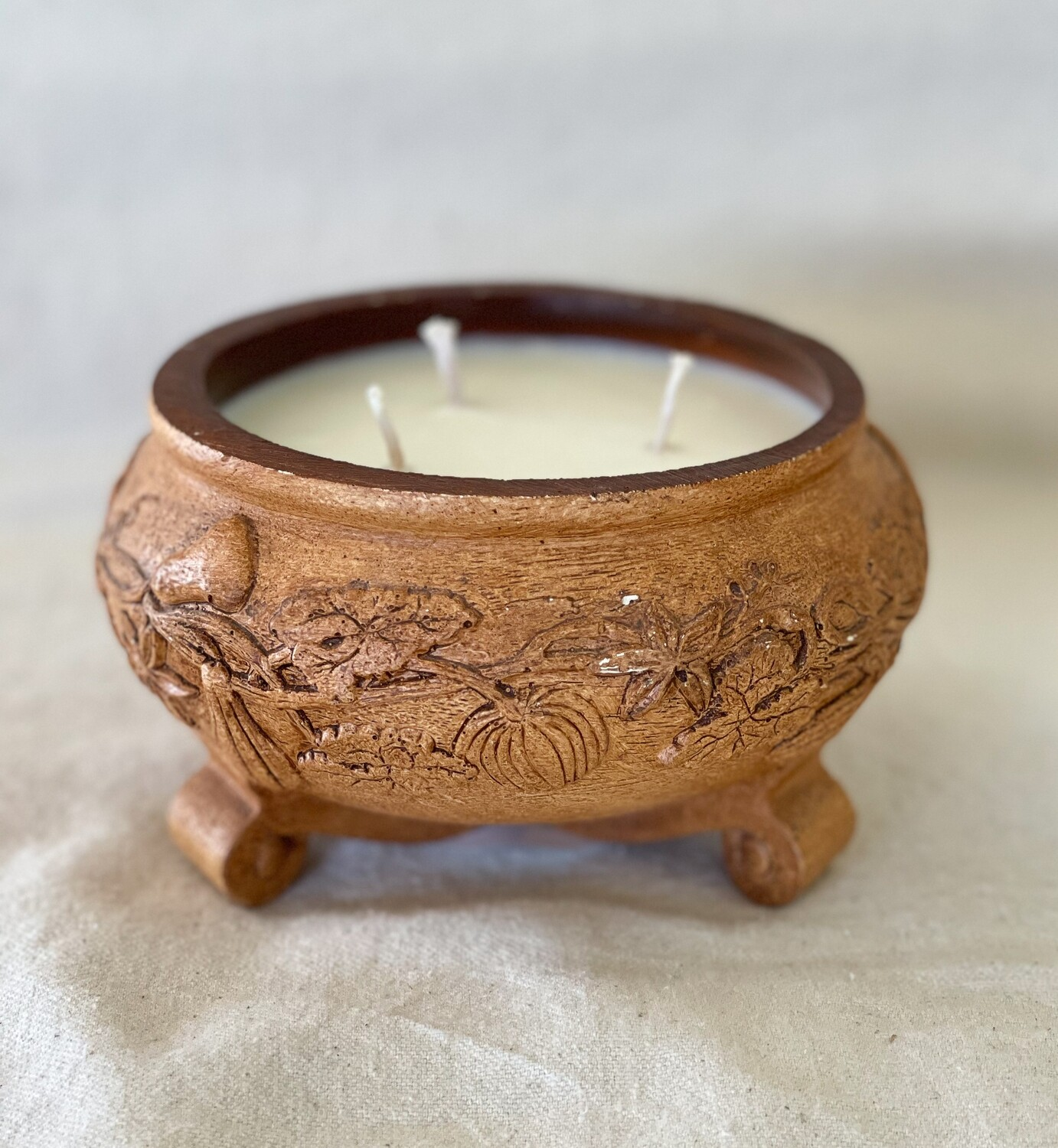 Bamboo & Coconut Footed Bowl Candle 16oz