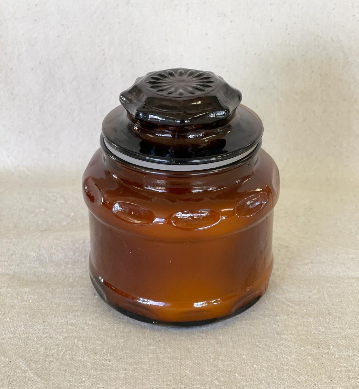 Vanilla Amber Glass Jar Candle 8oz
