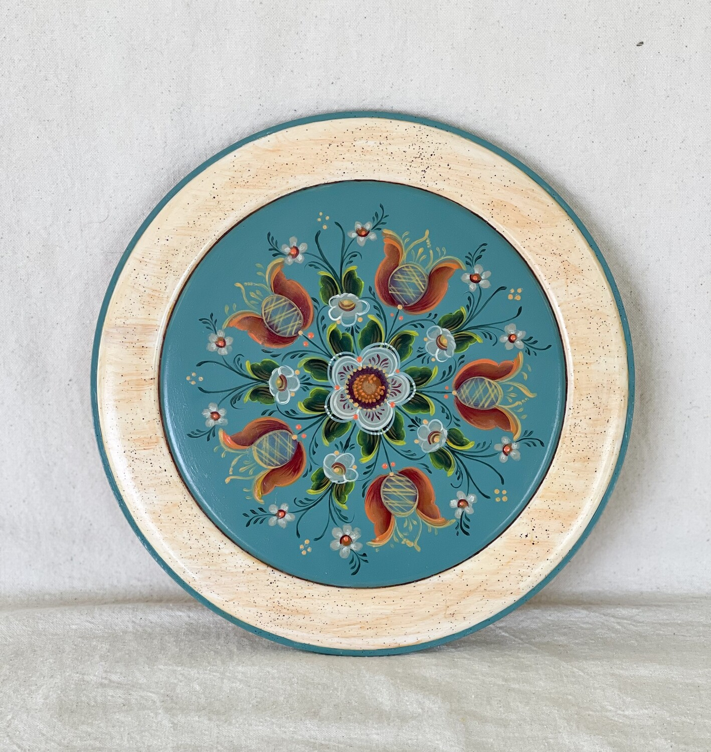 Hand Painted Decorative Charger by Creekside Painter