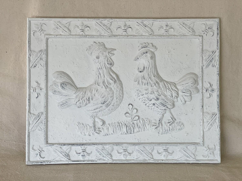 Plaster Cast Chicken Wall Decor