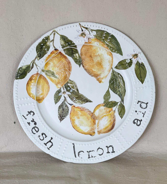Fresh Lemon Aid Decorative Charger