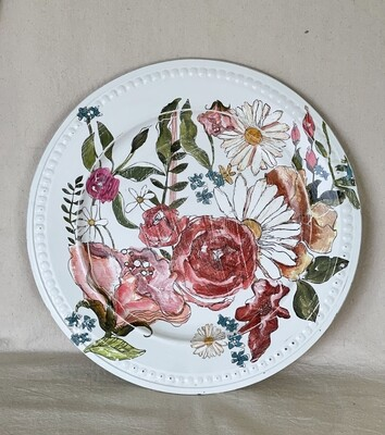 Foral Garden Decorative Charger