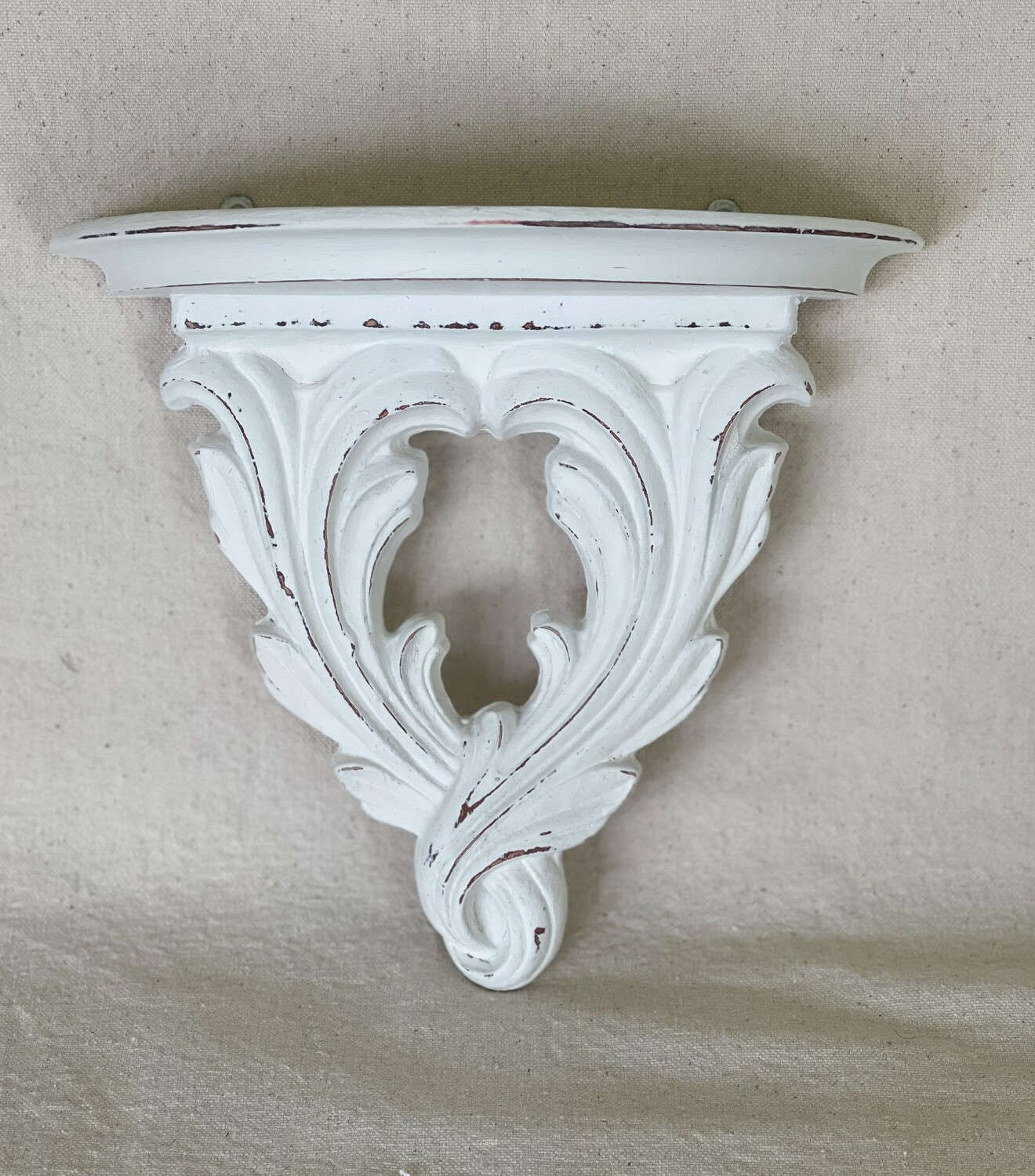 White Distressed Wood Wall Sconce