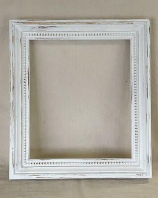 White Distressed Wood Frame
