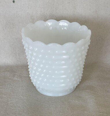 Hobnail Milk Glass Fire King Oven Ware Dish/Planter