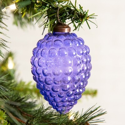 Grapes Glass Ornament