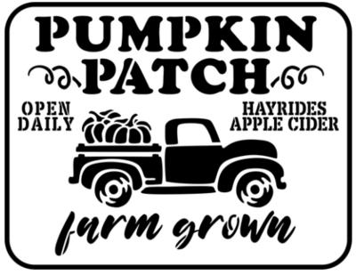 JRV Pumpkin Patch Stencil