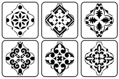 JRV Arabesque Mini Stencil Set