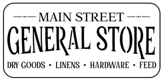 JRV Main Street Sign Stencil