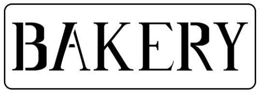 JRV Bakery Word Stencil