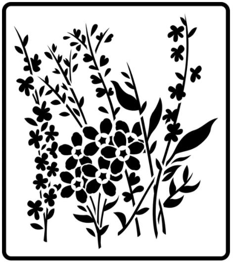JRV Wild Flowers Stencil