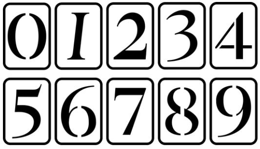 """JRV 5"""" Number Stencil Set"""