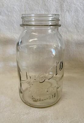 Vintage Presto Supreme Mason Quart Jar