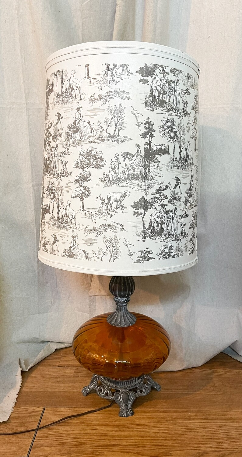 Upcycled Vintage Table Lamp