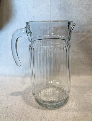 Ribbed Glass Pitcher 8 Cups