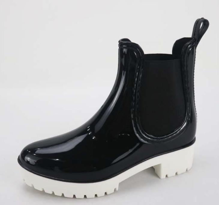 Bamboo Wellies Gloss Black Rain Boot
