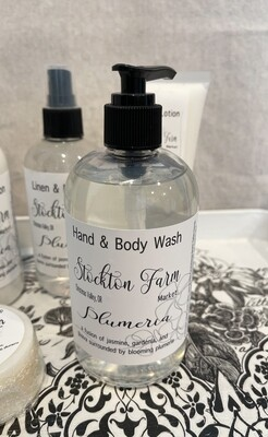 Plumeria Hand & Body Wash 12oz