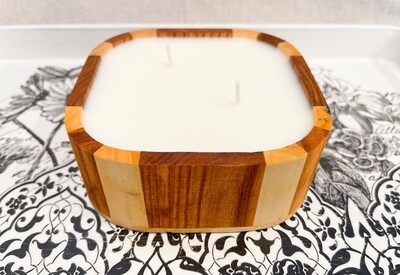 Spiced Honey & Tonka Wood Bowl Candle 16oz