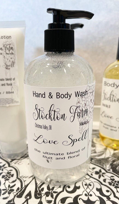 Love Spell Hand & Body Wash 12oz