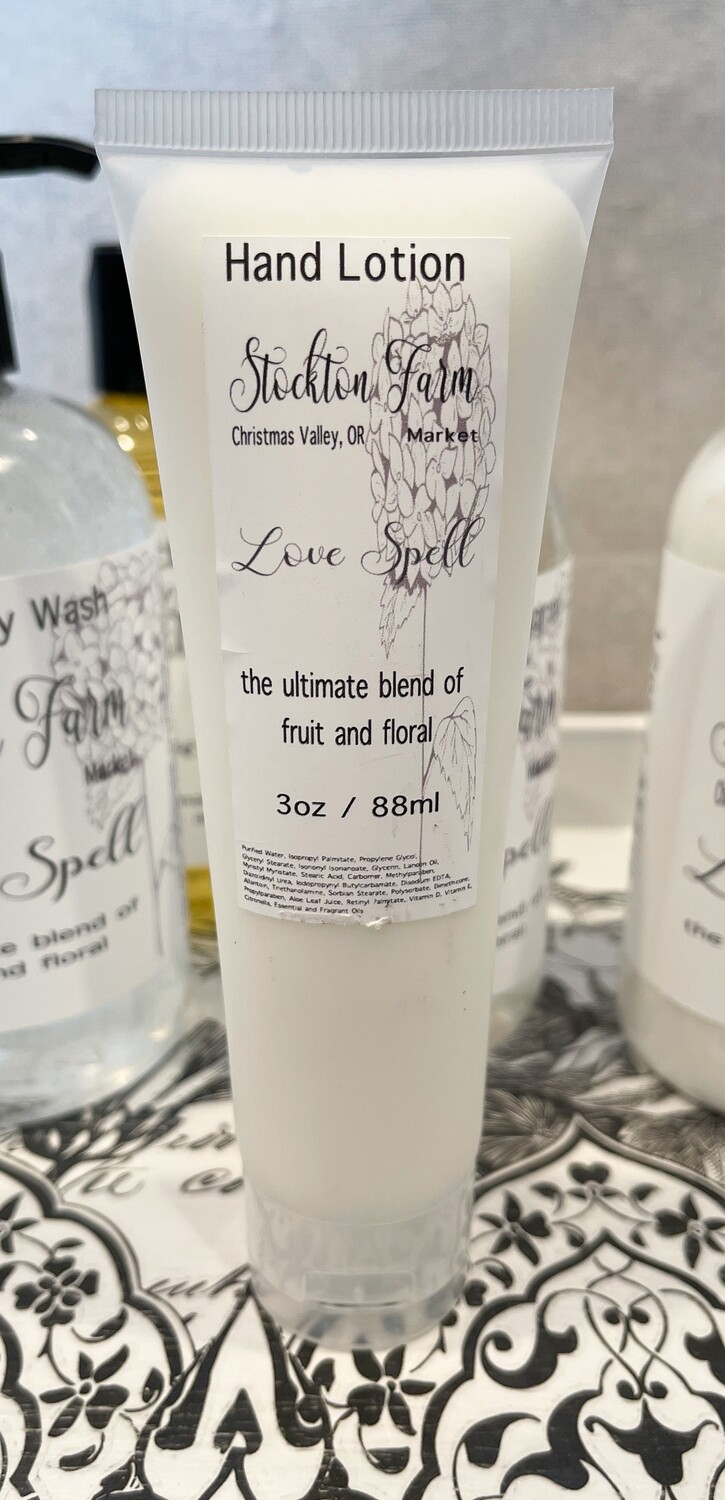Love Spell Hand Lotion 3oz Travel