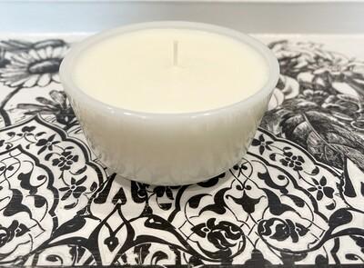 Pumpkin Souffle Milk Glass Bowl Candle 6oz