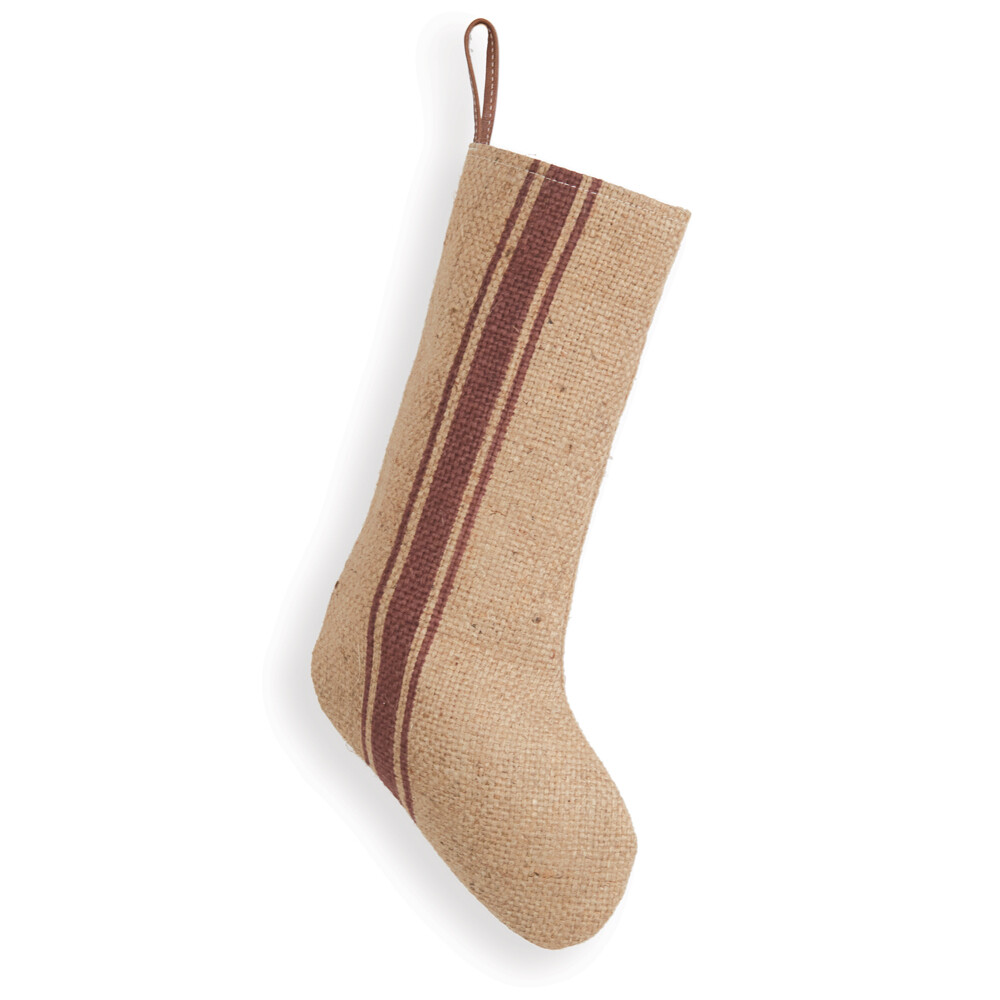Burlap Striped Stocking